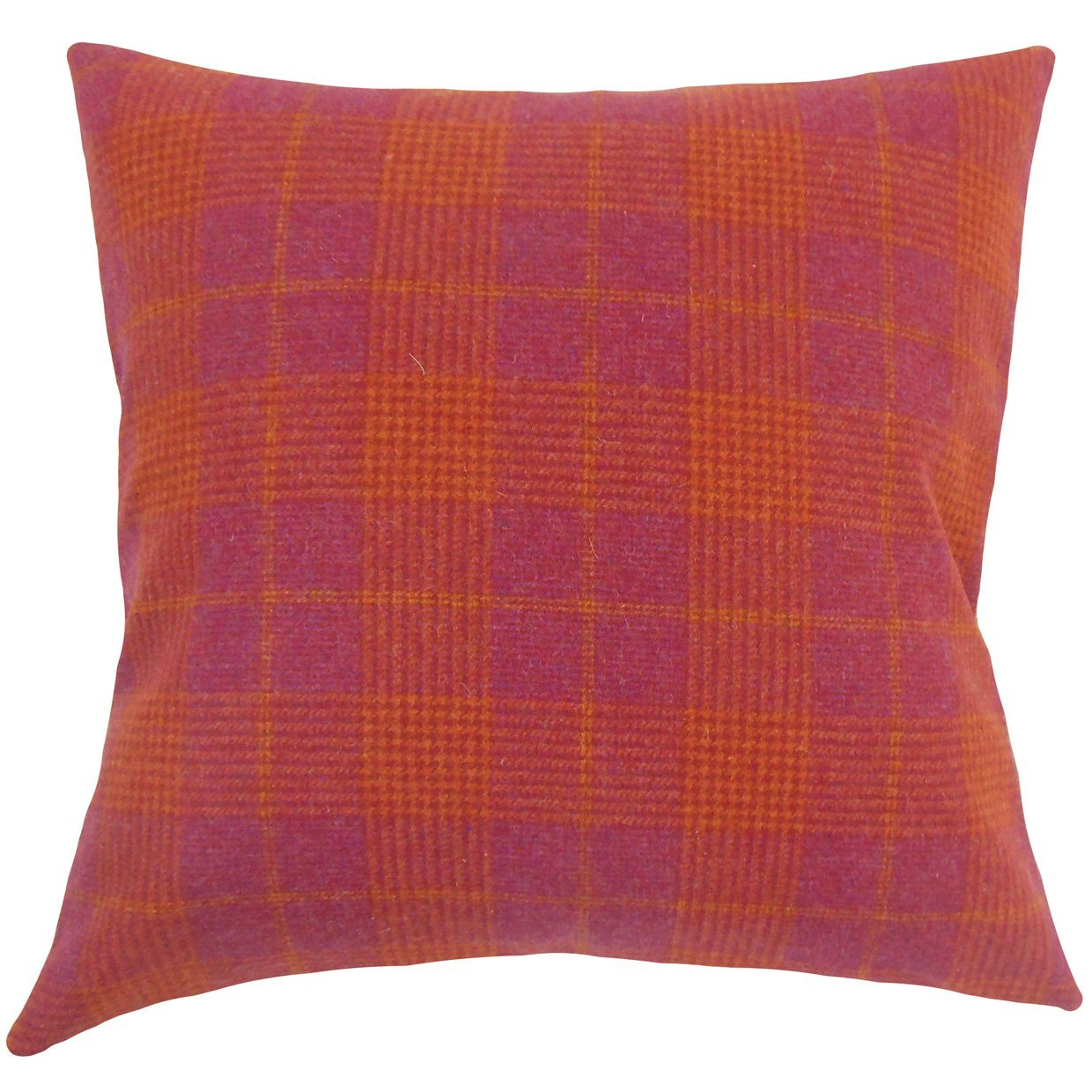 The Pillow Collection Felician Plaid Bedding Sham Pink King//20 x 36