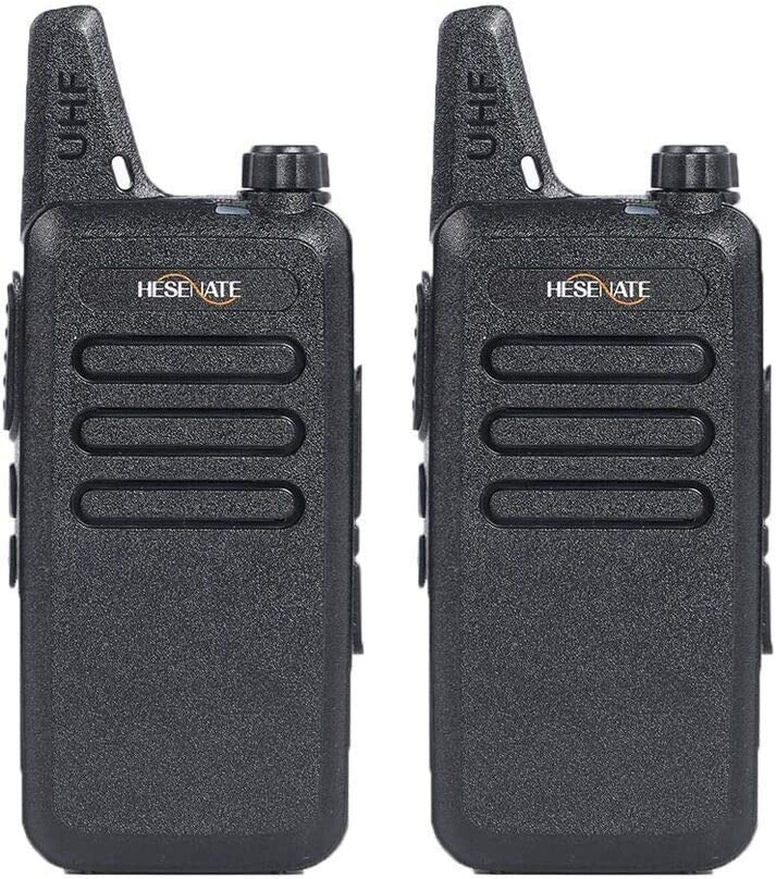 Pack of 4 400-470Mhz//70cm 16-Channel Portable FRS//GMRS Two-Way Radio Vox Rechargeable 1500mAh Li-Ion Battery Walkie Talkies HESENATE HT-U222 Long Range Uhf