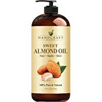 Handcraft Sweet Almond Oil - 100% Pure and Natural - Premium Therapeutic Grade Carrier Oil for Aromatherapy, Massage…