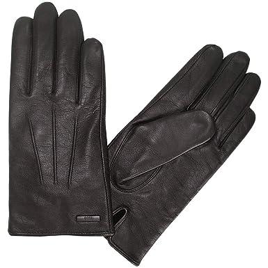 5306bc8e91c9f4 BOSS Hainz Leather Herren Handschuhe Schwarz: Amazon.de: Bekleidung