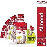 Soulfull Millet Smoothix - Almond - 5 Single Serve Sachets with Shaker