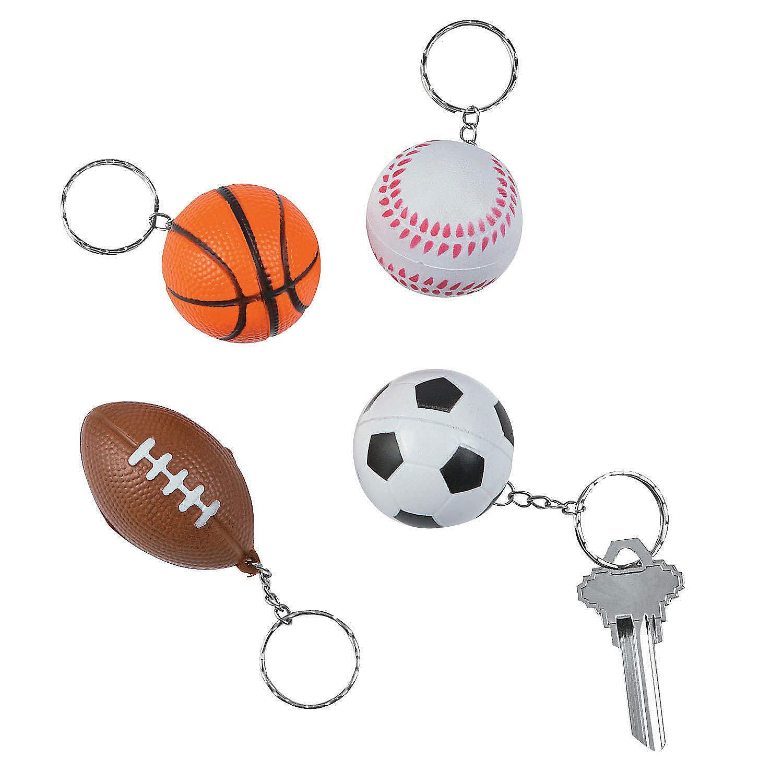 Amazon.com: Sports Ball fiesta suave Llaveros – fútbol ...