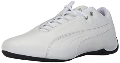 PUMA Men's Future Cat Reeng Quilted Sneaker, White Silver-Tibetan Red,7 M