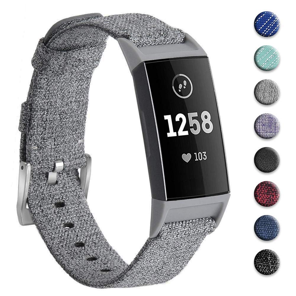 Malla para reloj Fitbit Charge 3 y Charge 3 SE (gris)