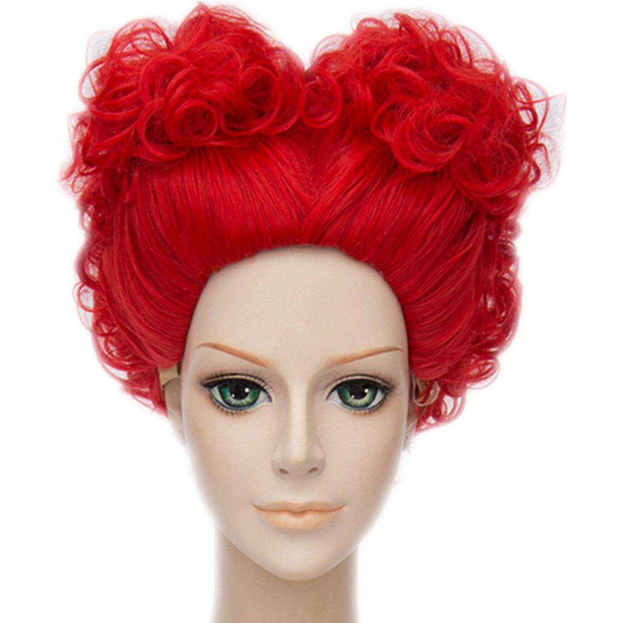 MSHUI Alice's Adventures in Wonderland Red Queen Anime Cosplay Short Curly Hair M-925CW04