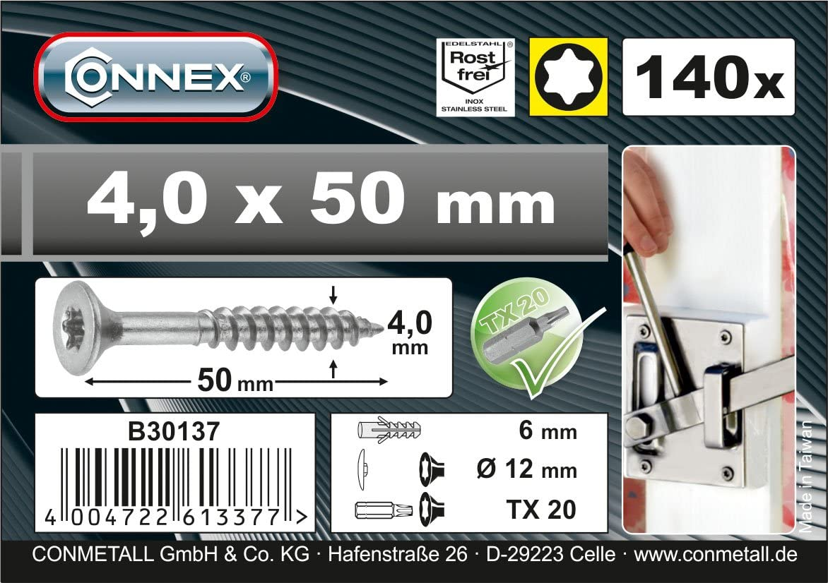CONNEX B30137 TX A2 4 x 50mm Uni-Screws Bucket