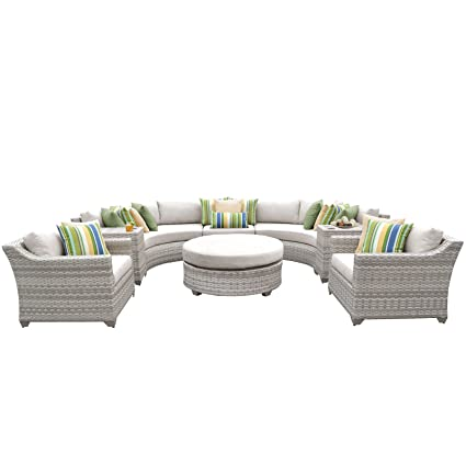 Fairmont Patio Furniture.Amazon Com Tk Classics Fairmont 08e 8 Piece Outdoor Wicker Patio