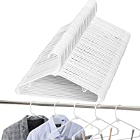Amazon Brand - Umi Perchas de Plástico, Antideslizantes y Resistentes, Perchas Estándar para Trajes, Abrigos, Pantalones…
