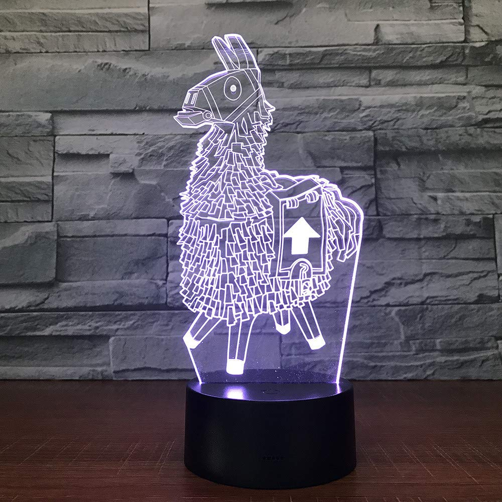 Alpaka lama 3D Led Schreibtischlampe Modellierung Nachtlicht Usb Ladung Baby Stimmung Touch-Taste Kinder Schlafzimmer Beleuchtung Für Wohnkultur Geschenk