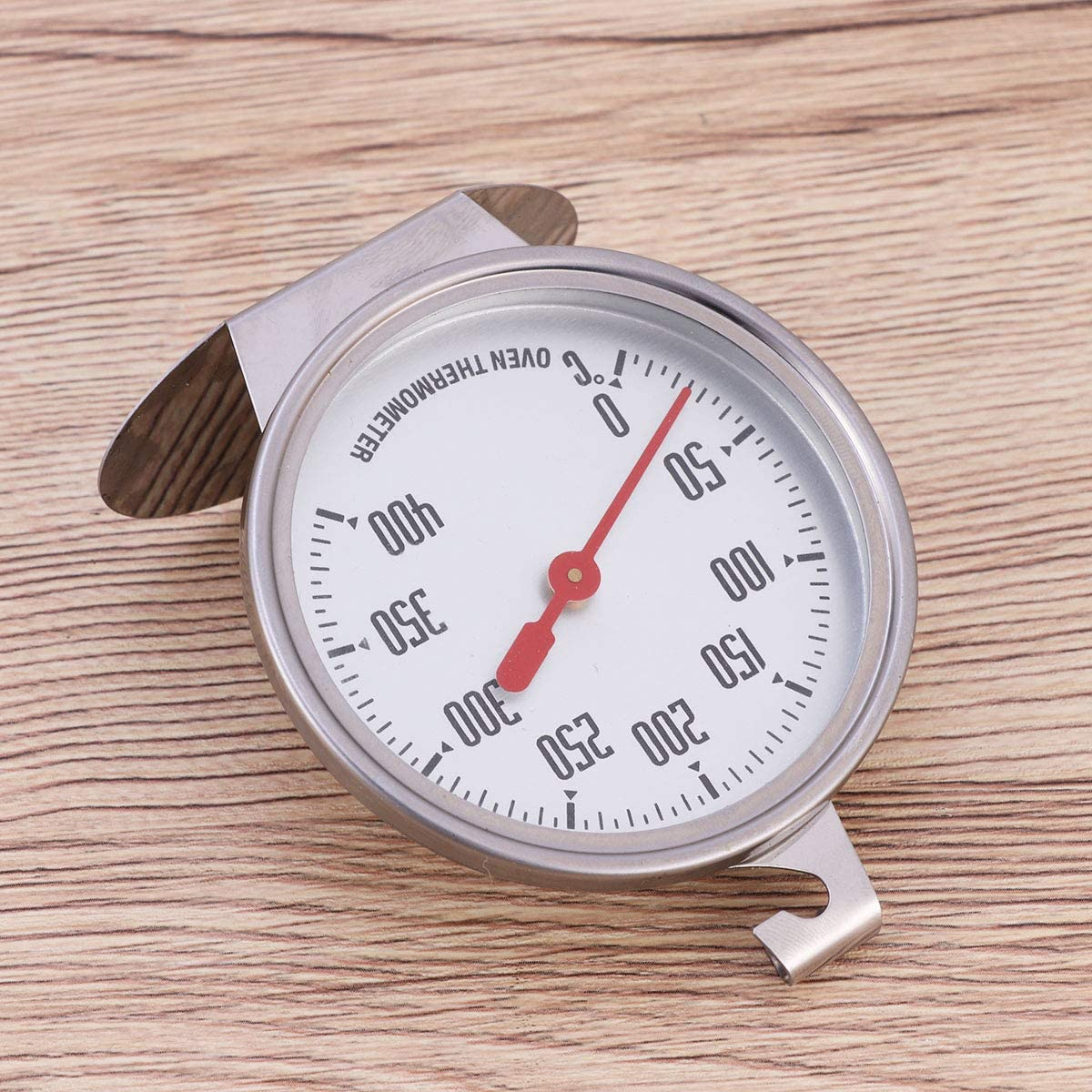 Hemoton 0-400 Stainless Steel Cooking Thermometer for Monitoring Instant Oven Reading Single Dial
