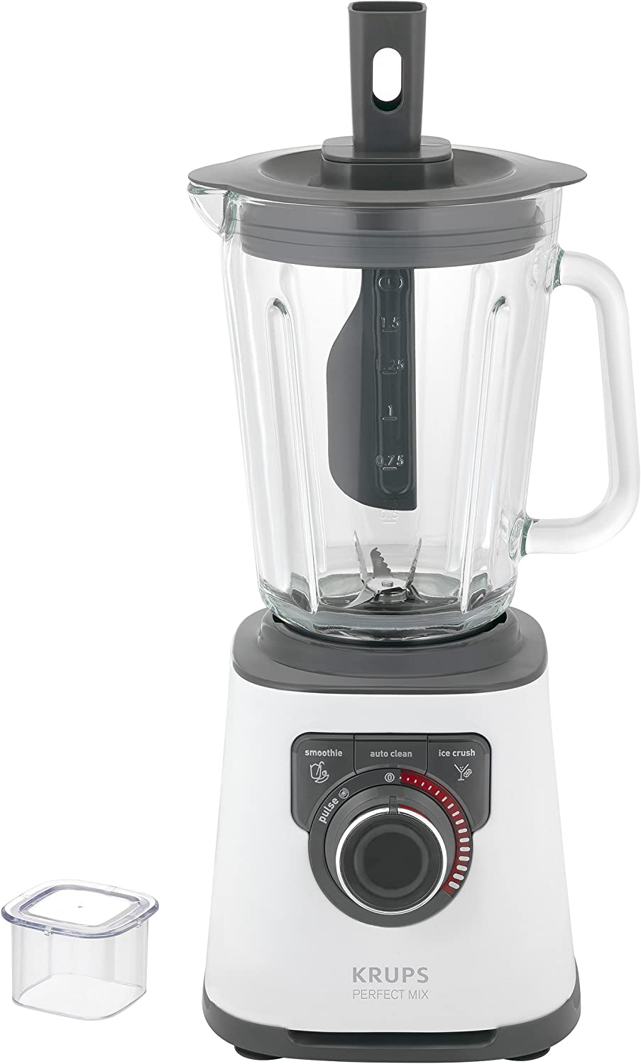 Krups Perfect Mix KB4031 Batidora de vaso 1.5L 1200W Gris, Blanco ...