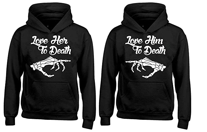 Amazon.com: Par sudadera con capucha – Le su amor a Muerte ...
