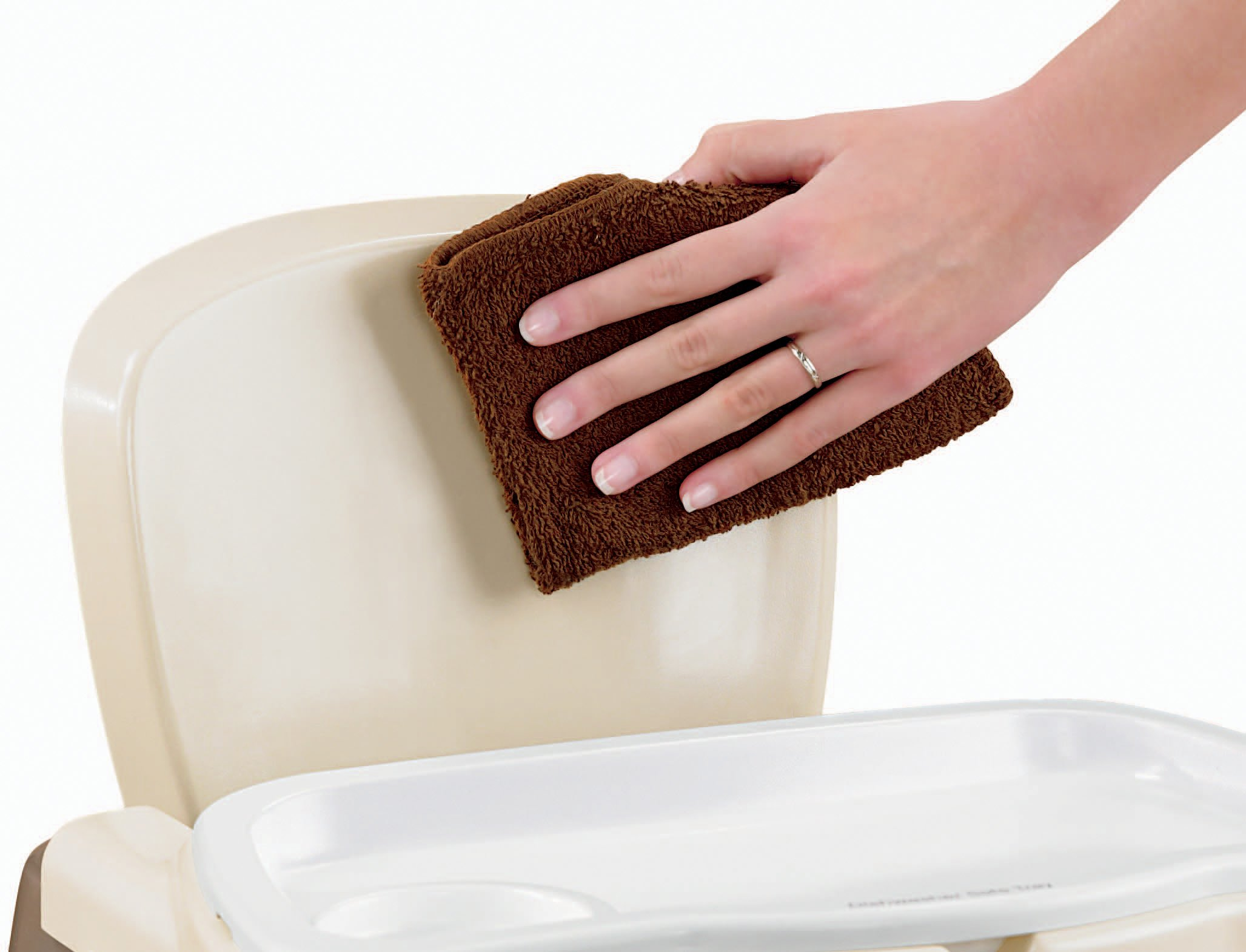 Fisher Price Healthy Care Deluxe Booster Seat Brown Tan Bmh09 Blue Home Kitchen Features Tibs