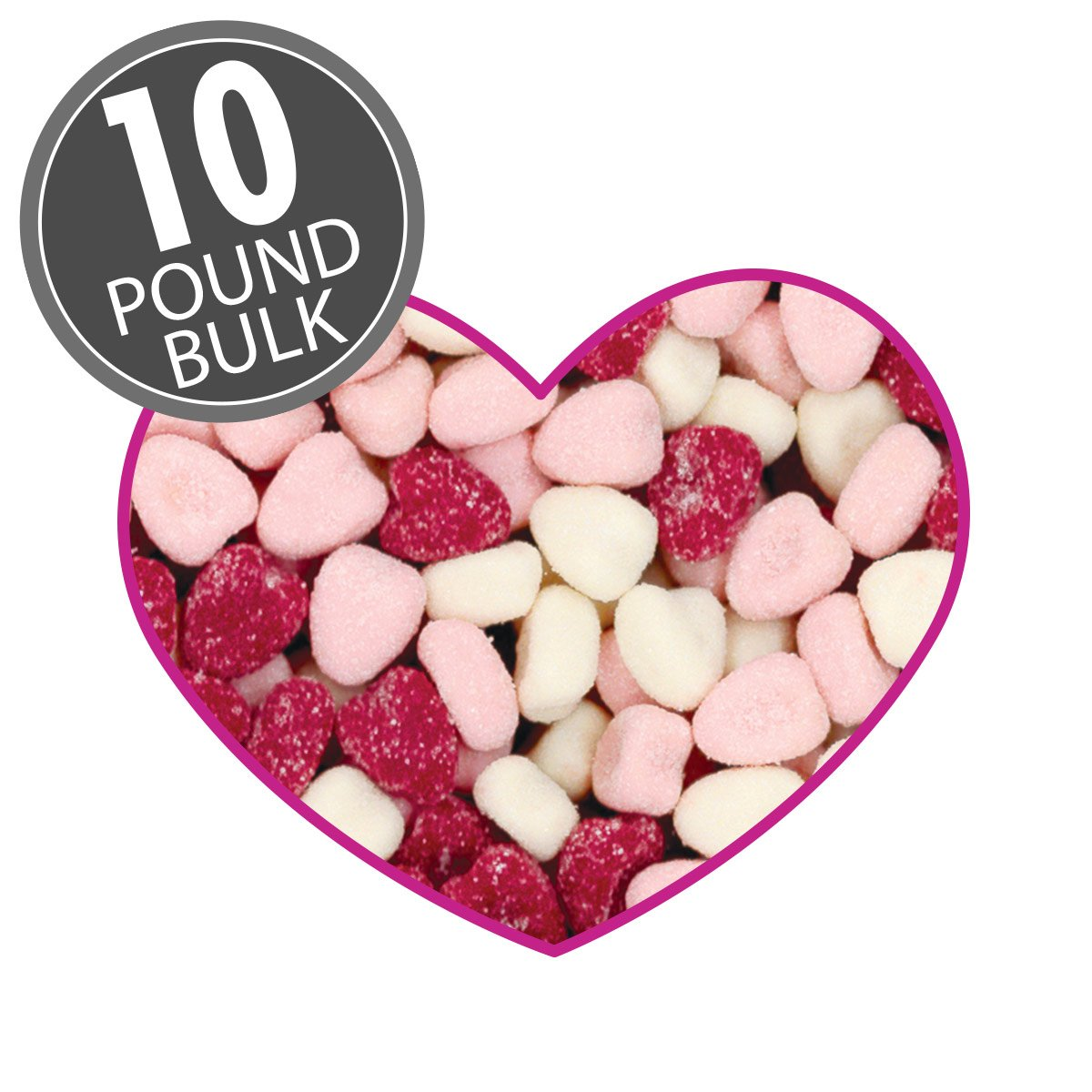 Petite Sour Hearts - 10 lbs bulk by Jelly Belly Confections