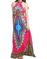 Eloise Isabel Fashion Vestidos Plus Size Bazin Riche Africano Tradicional Tribal Imprimir Maxi Vestidos Das Senhoras