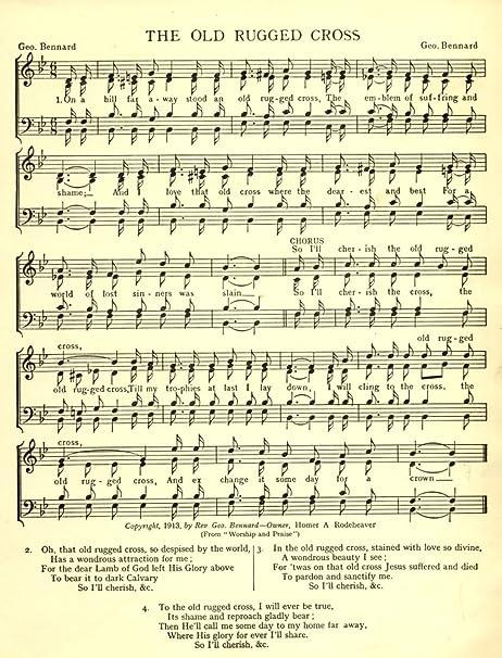 G. Bennard - News Chronicle Song Book n.d. Old Rugged Cross Fine Art ...