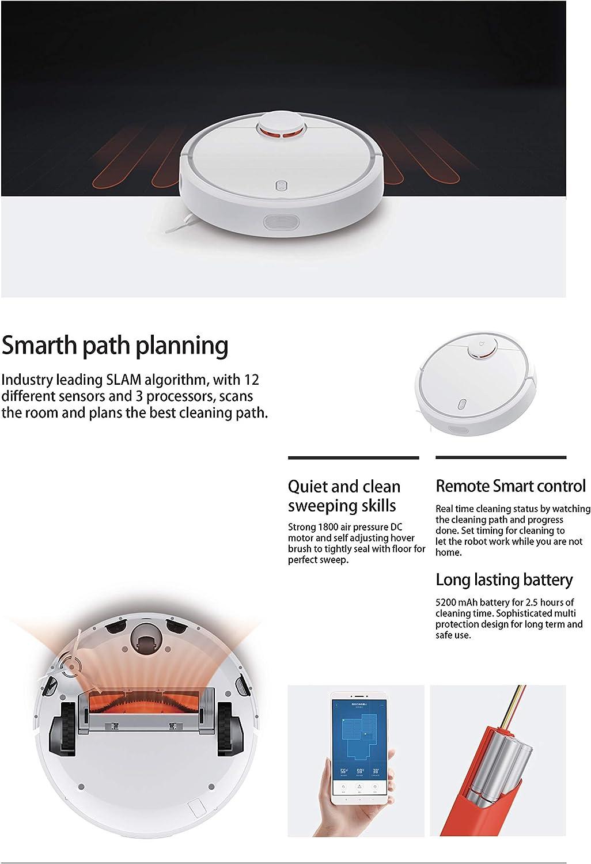 Xiaomi SDJQR02RR - Aspirador Robótico, Autocargado, Súper fuerte ...