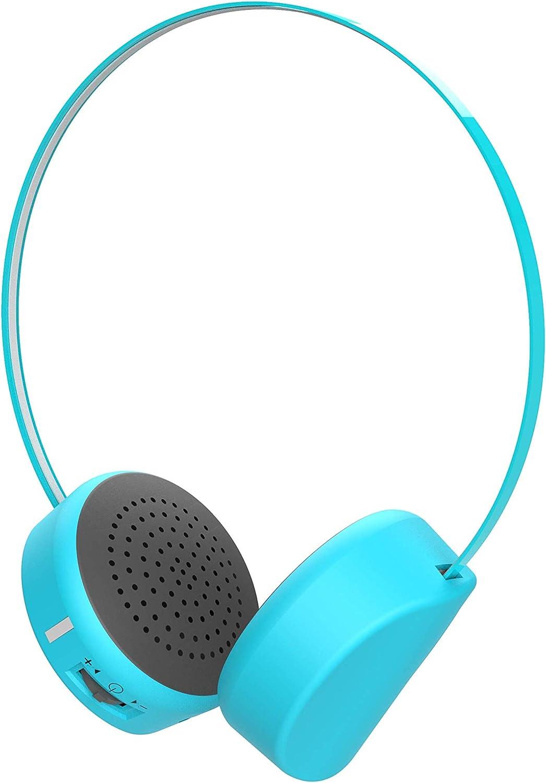 【Oaxis 】 myFirst Headphones Wireless 85dB音量制限付き ブルートゥース式 ヘットフォン 【子供専用】【超軽量】マイク内蔵式 超軽量 高音質 人間工学 長持ちバッテリー ブルー