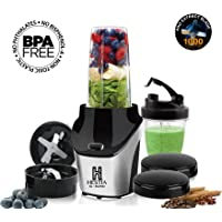 HESTIA APPLIANCES IQ-BLEND 1000 Watts Powerful Nutritional Blender (Black and Silver)