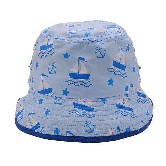 Zelta Kids UPF 50 Bucket Hat Sun Protection Adjustable Drawstring Strap