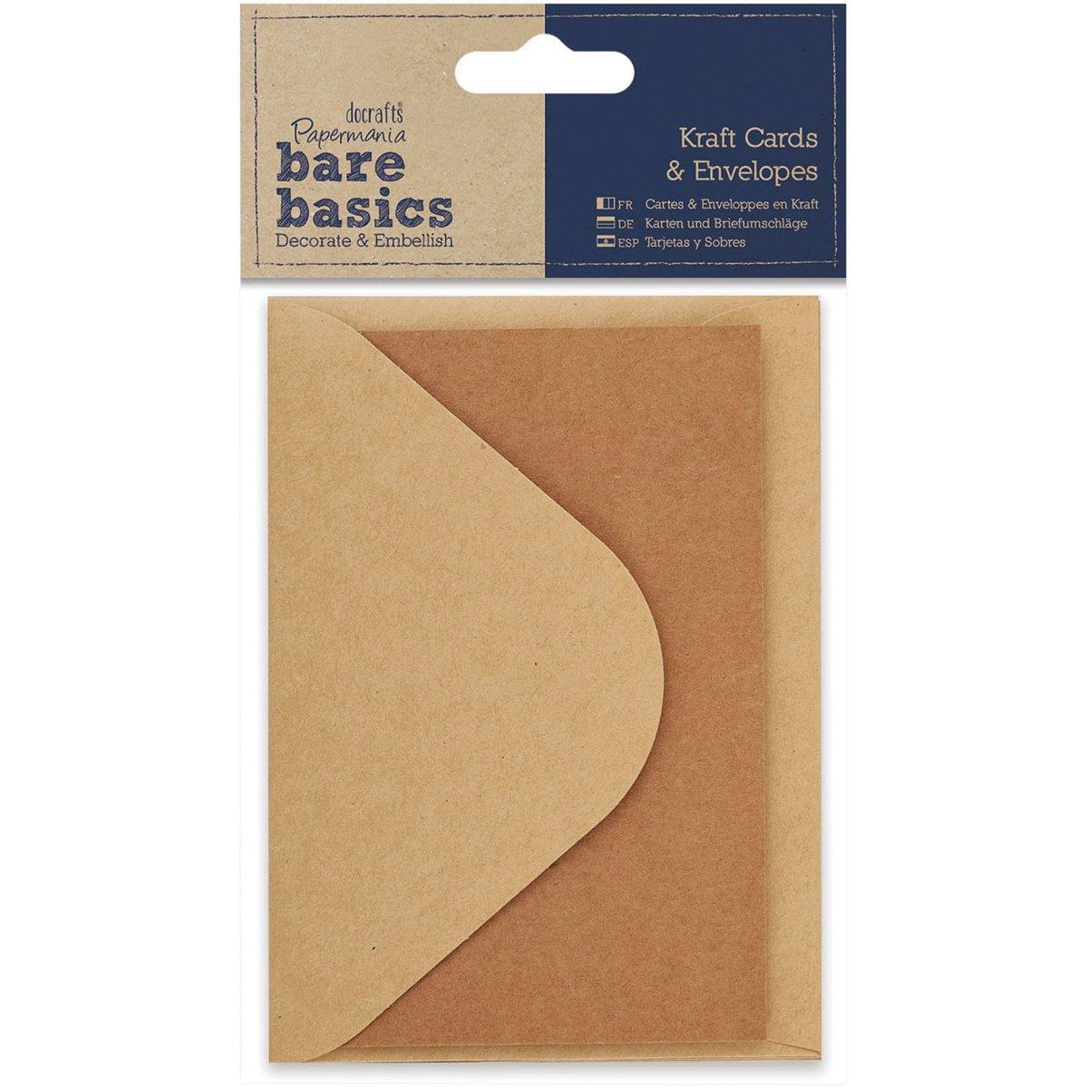 DOCrafts Papermania Bare Basics Cards and Envelopes Kraft