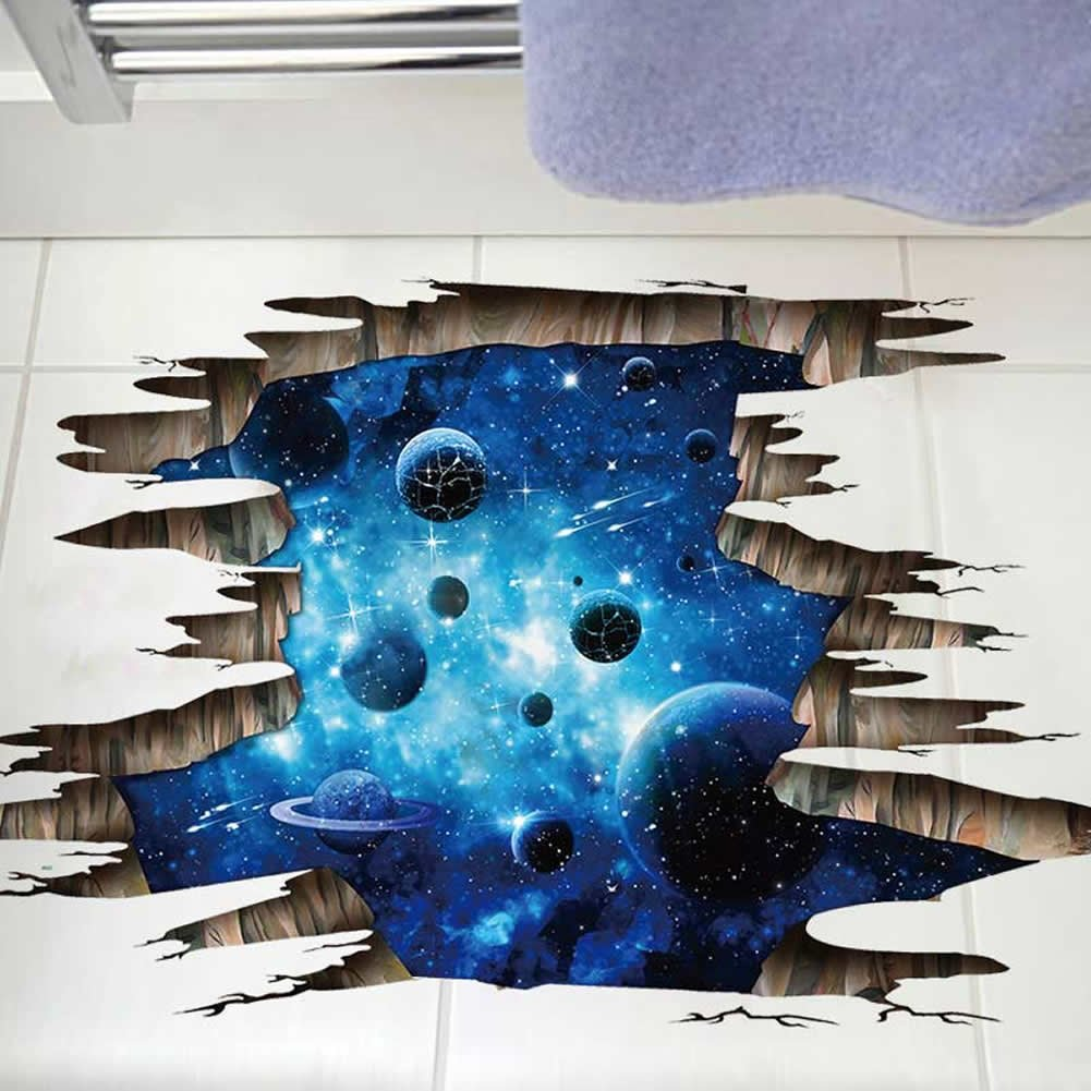 Livegallery removable pvc 3d outer space for Wall decor outer space