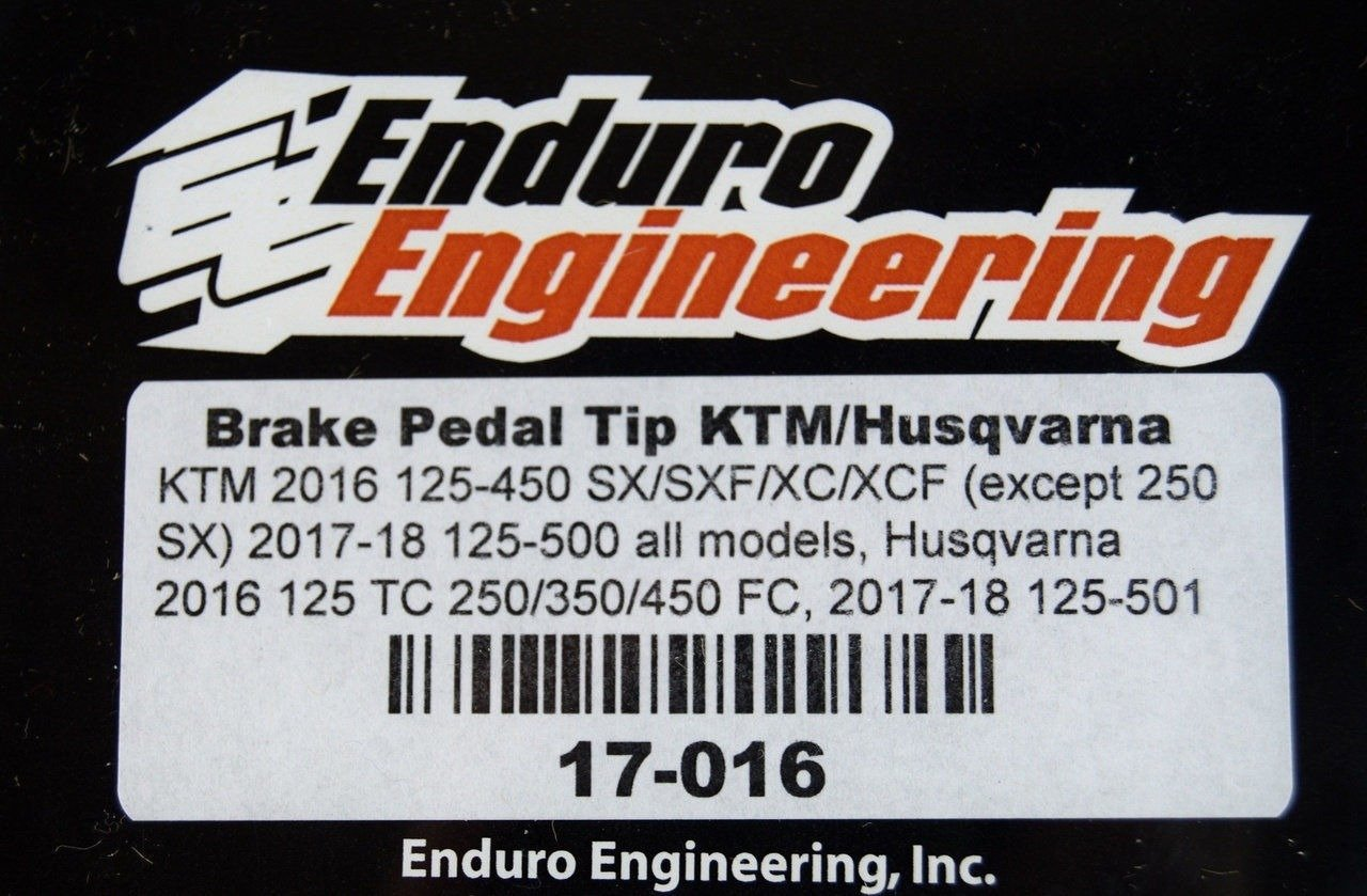 Enduro Engineering Brake Pedal Tip Husqvarna FC 250 2016-2018 Fits