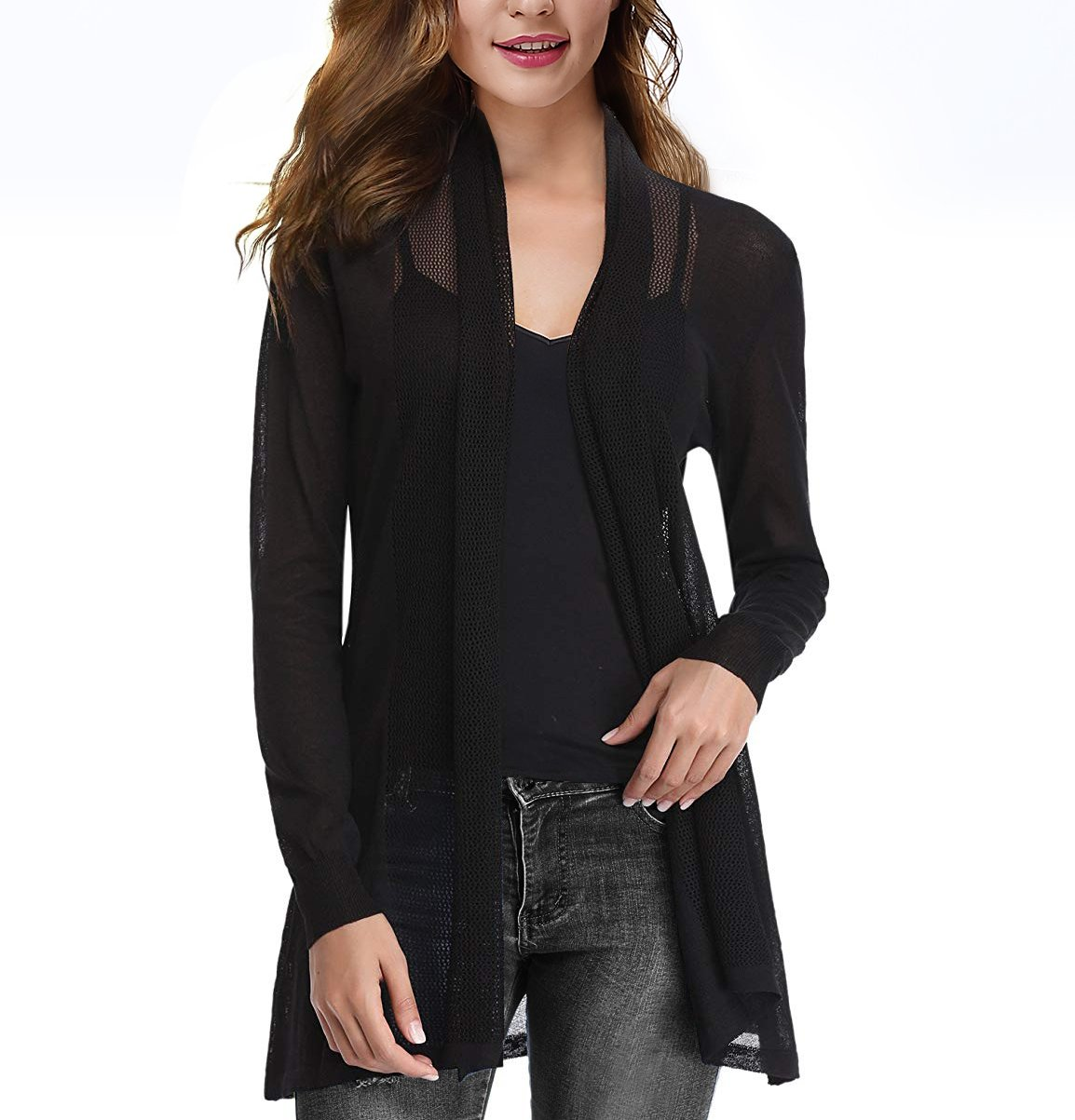 CJ Womens Casual Long Sleeve Open Front Cardigan Sweater