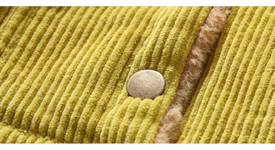 DoufineBaby Doufine Girls Warm Autumn Winter Plus Velvet Corduroy Thicken Jacket