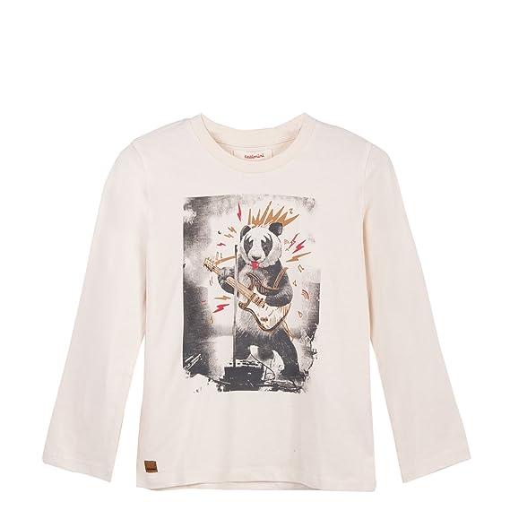 4c02139b8f6a7 Catimini Boy's T-Shirt Manches Longues Pour Long Sleeve Top, (Bleu Broken  White