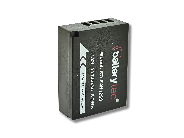 M1 X-Pro1 X-Pro2. 1140mAh Batterytec/® Batterie pour Fujifilm NP-W126S Fujifilm FinePix X-T3 X-T10 X-T20 X-T30 X-T100 HS30EXR HS33EX X100F X-A5 X-A10 X-E3 X-E2 X-H1 X 12 Mois de Garantie