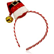 Santa Bell Gold Hand-Held Prop Father Christmas Fancy Dress Party
