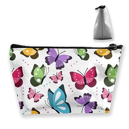 Bolsa de maquillaje de mariposas que vuelan Bolsas de aseo ...