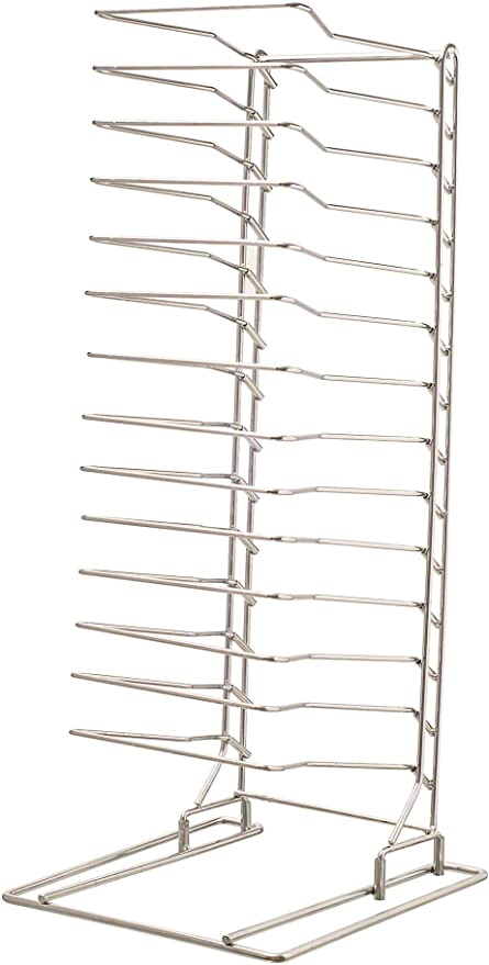 Amazon Com Update International 15 Shelf Pizza Tray Rack Serving Trays