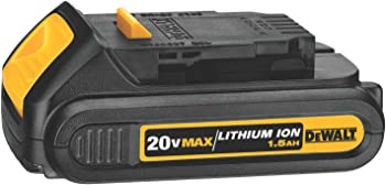 DeWalt 20V 1.5Ah Lithium-Ion Compact Battery (DCB201)