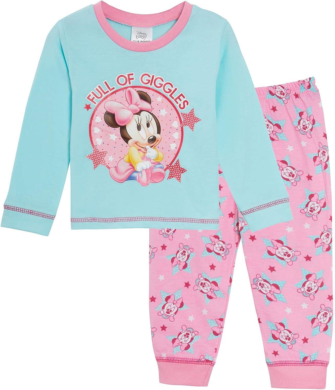 Disney Baby Girls Minnie Mouse Pigiama Pigiama per Bambini Pjs Neonati Pigiama Senza Piede