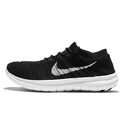 Nike Free RN Motion Flyknit BlackWhite Mens Running Shoes Size 15