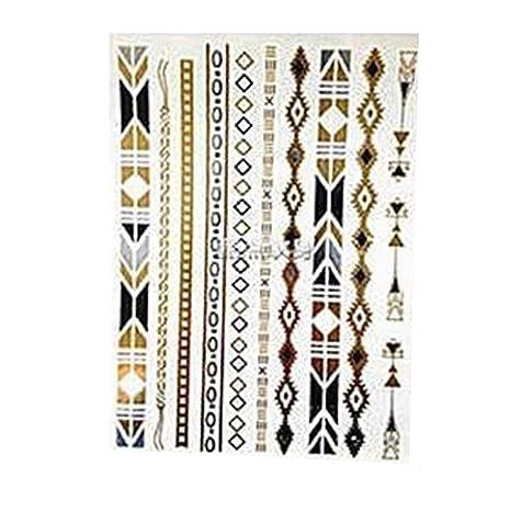 Tatuajes temporales dorados para tatuajes, joyas, pulseras ...