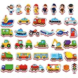 Imanes nevera para niños VEHICULOS Y PROFESIONES 36 piezas - Juguetes niños 2 años - Juguetes