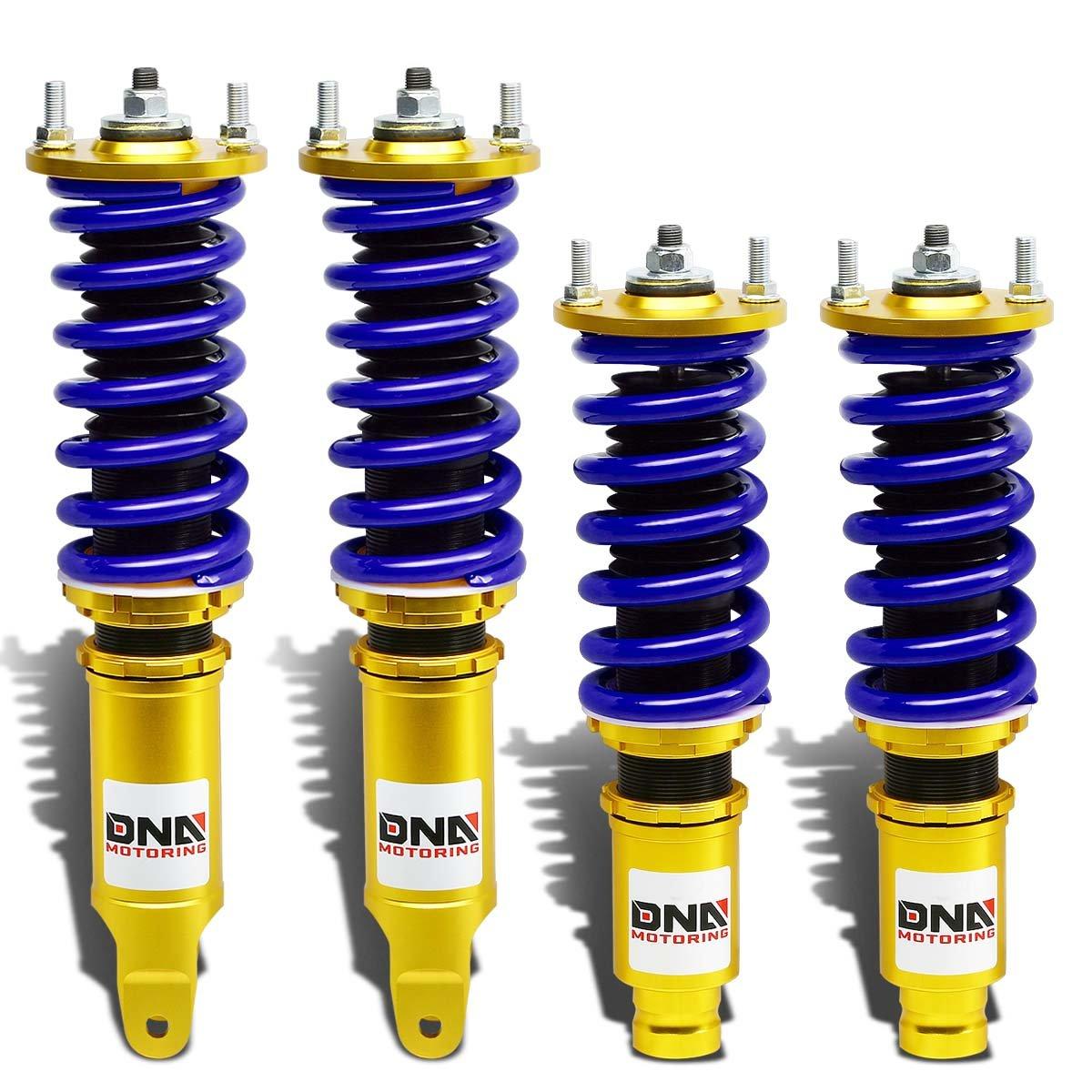 DNA MOTORING DNA-COIL-DP-HC96-GD-BL DNACOILDPHC96GDBL Suspension Coilover Damper Shocks Kit for 96-00 Honda Civic