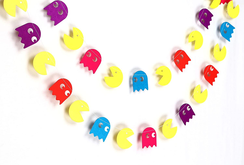 Pacman Ghost Garland - Birthday Decorations,Party Decorations,Party décor,Creative Decoration