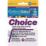 20 callers select choice phone calling card for cheap usa international long distance calls - Prepaid Long Distance Phone Cards For Landlines