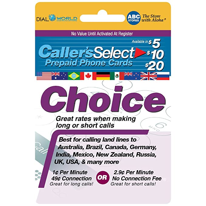 20 callers select choice phone calling card for cheap usa international long distance calls - Best Calling Cards