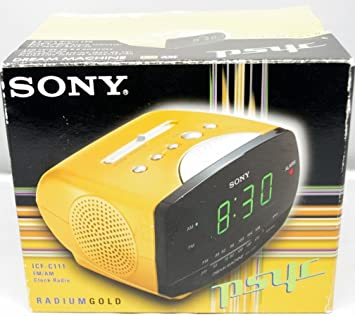 Sony ICF-C111 - Clock radio - gold