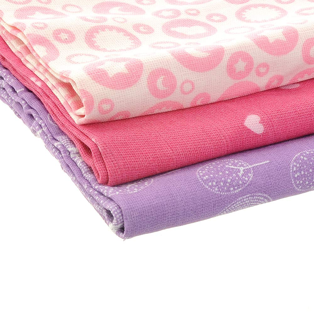 Ziggle Baby Luxury Muslin Cloths Squares Stylish Thick Absorbent Cotton Breathable