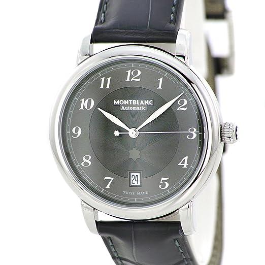 Reloj Montblanc Star Legacy Automático Date Correa de cocodrilo Gris 39 mm: Amazon.es: Relojes