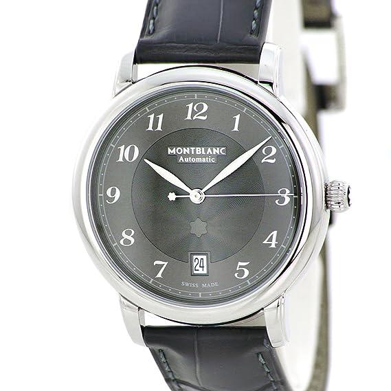 Reloj Montblanc Star Legacy Automático Date Correa de cocodrilo Gris 39 mm