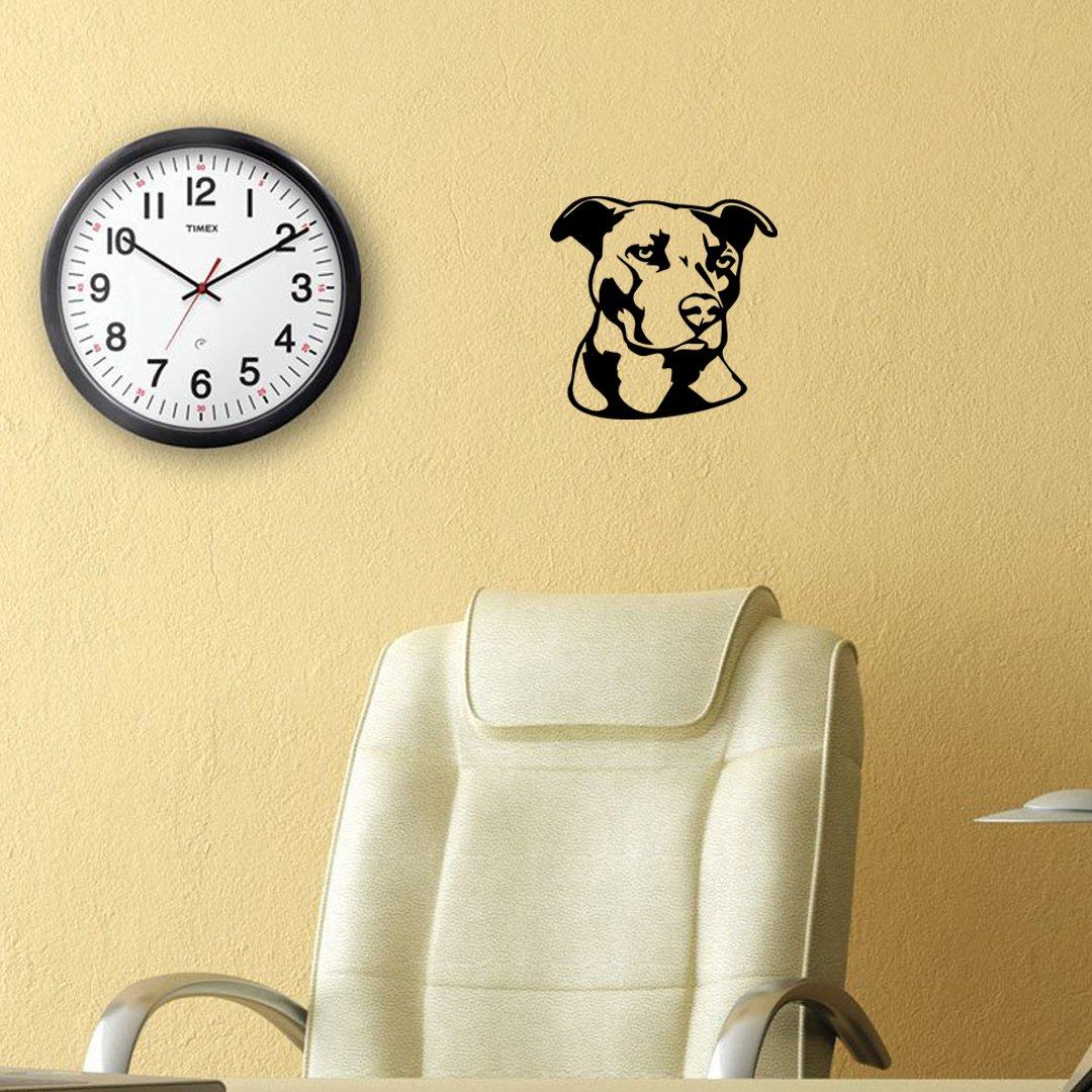Amazon.com: ANGDEST Pitbull Face Stencil Art (BLACK) (set of 2 ...