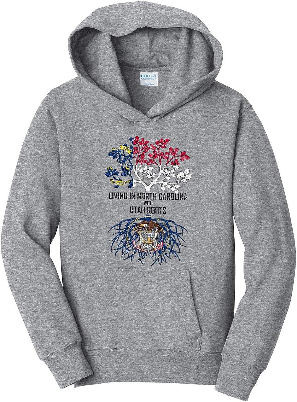 Tenacitee Girls Living in North Carolina with Utah Roots Hooded Sweatshirt