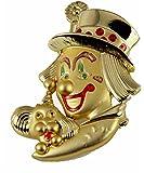 6030638 Clown Pin Lapel Brooch Shriner 2 Tone Detailed Design Circus
